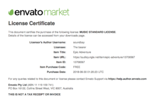 audiojungle License